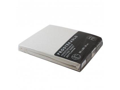 Napínacia plachta Jersey 180x200 cm, biela, bavlna
