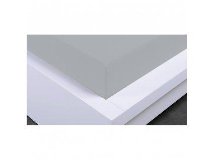 Napínacia plachta Jersey 90x200 cm, svetlo šedá, bavlna