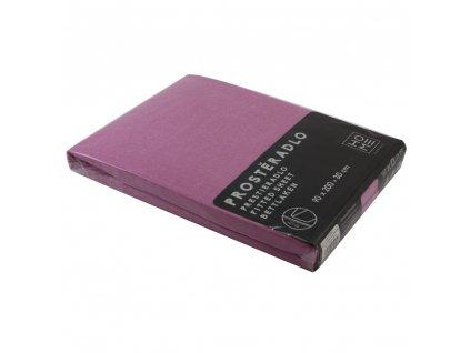 Napínacia plachta Jersey 90x200 cm, ružová, bavlna