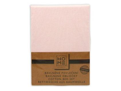 Bavlnené obliečky, biela + ružová, jednolôžko