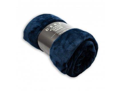 Mikroflanelová deka, 150x200 cm, Námornická modrá