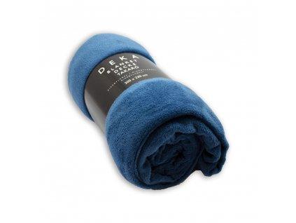 Mikroflanelová deka, 200x230 cm, Tmavo modrá