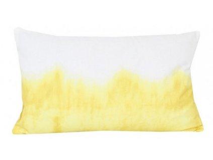 Bielo žltý povlak na vankúš - 30x50 cm