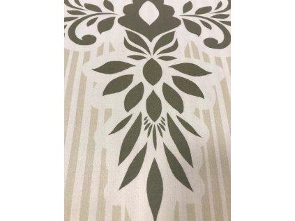 Luxusné bavlna saténové obliečky Scallop Dusty Yellow 140 x 200 70 x 90 cm