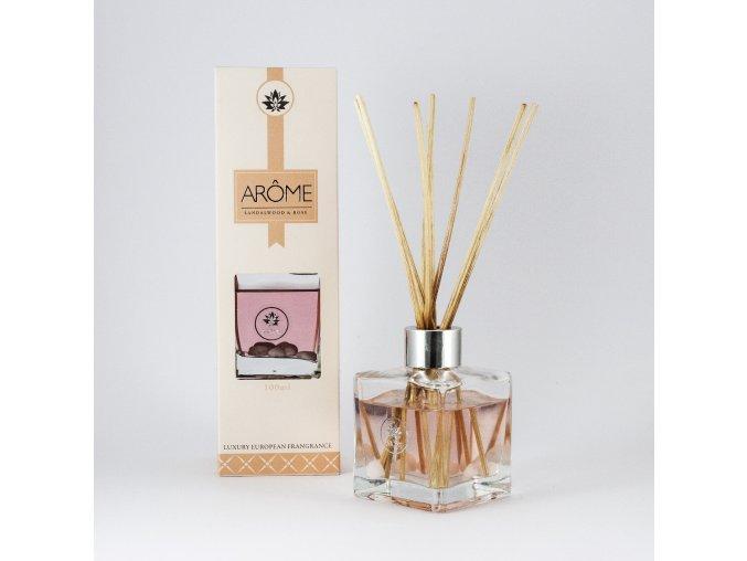 Osviežovač vzduchu difuzér  - Sandalwood & Rose - Rôzne veľkosti (Objem 100 ml)