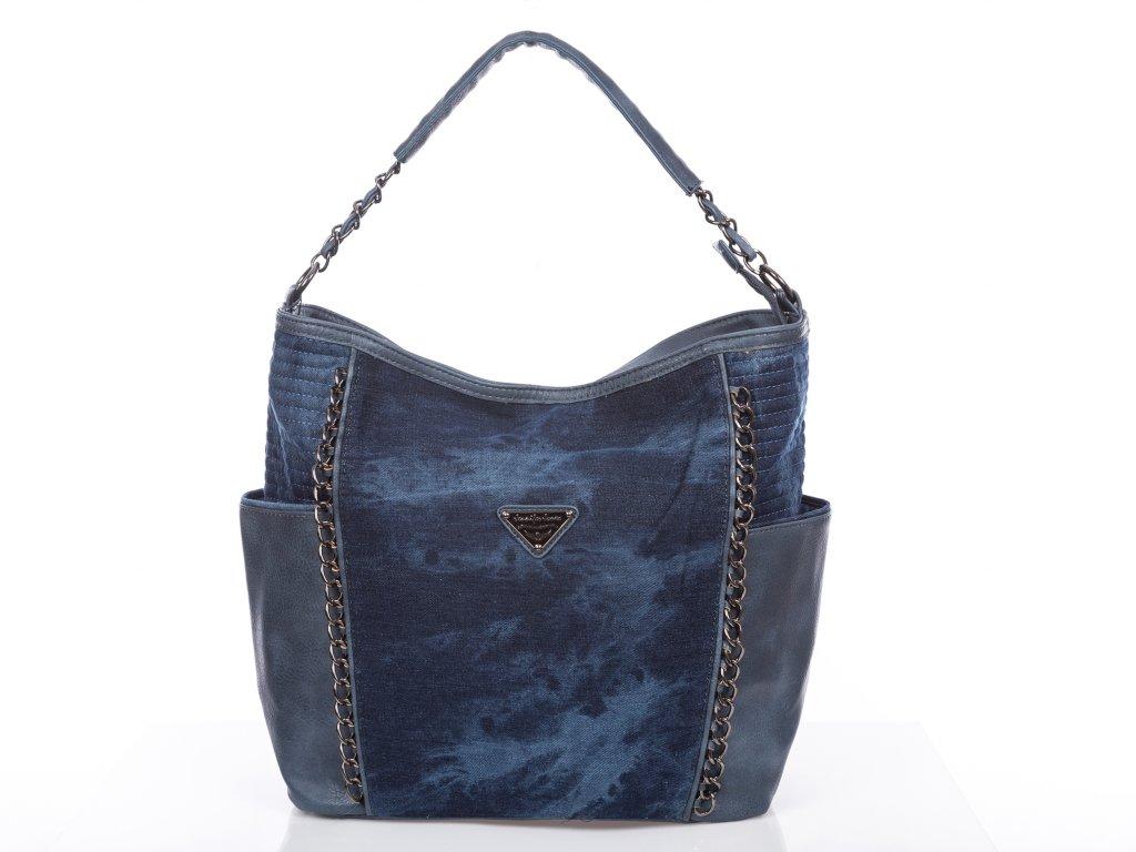 Velká riflová kabelka Jennifer Jones 4533 tmavě modrá