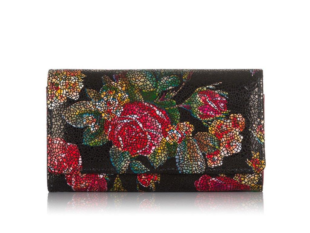 Dámská kožená peněženka červená Paolo Peruzzi přírodní kůže KW01