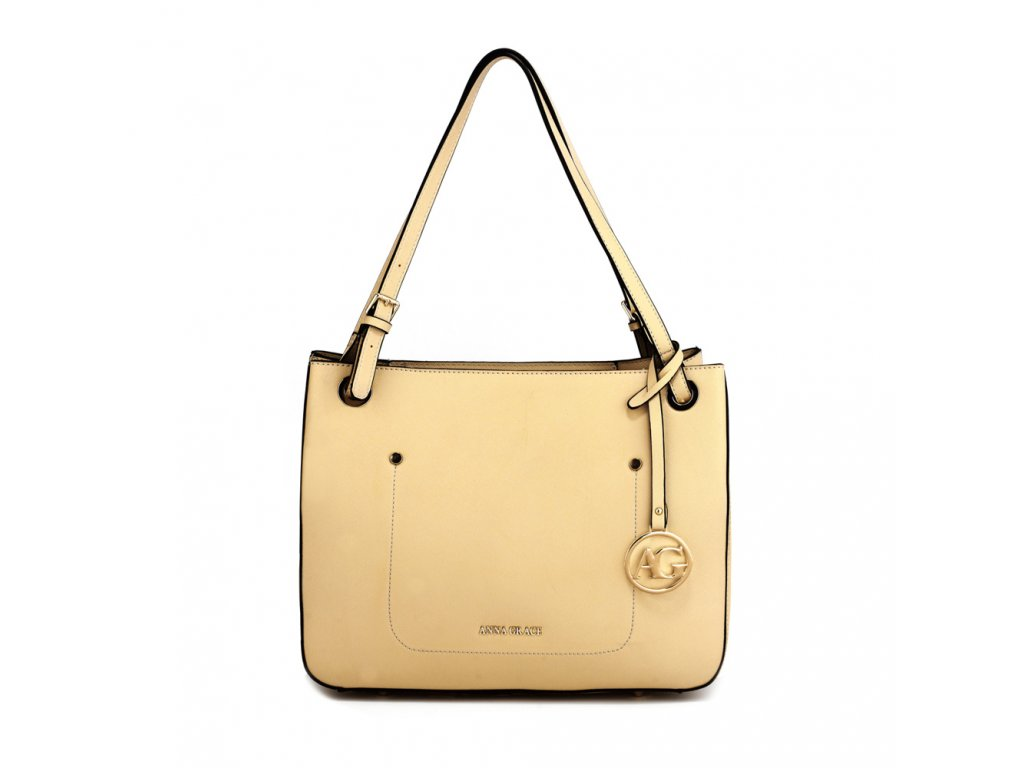 Elegantní kabelka přes rameno a do ruky Anna Grace AG00570 - nude