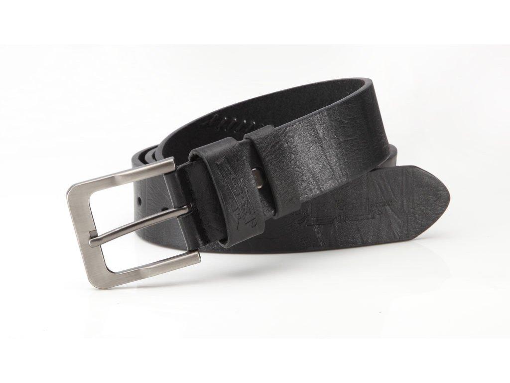 Pánský kožený opasek Jeans fashion - černý 5027-1