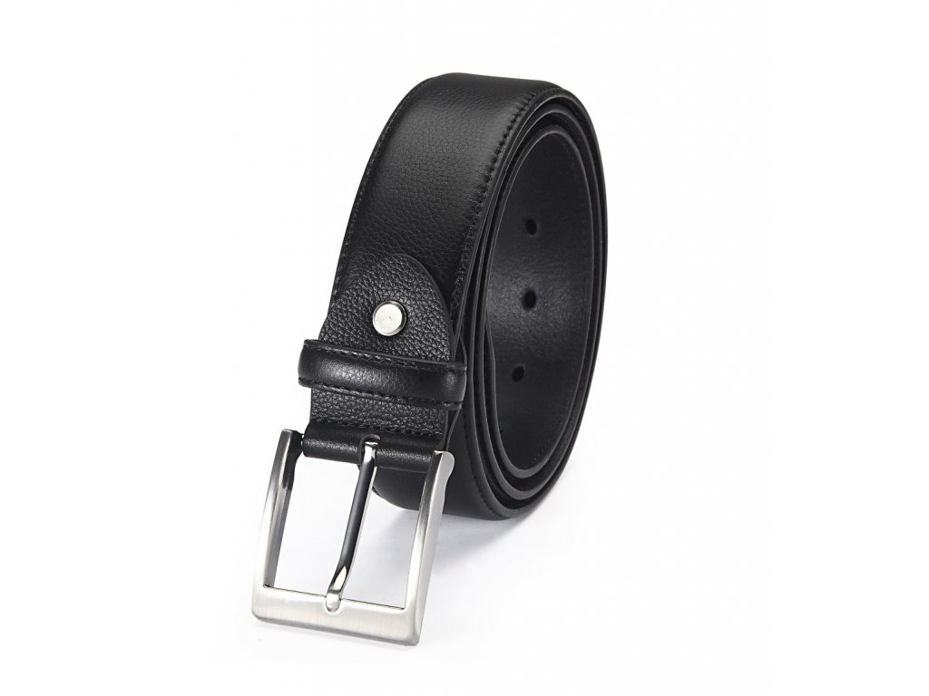 Pánský opasek s kapsou na zip černý G6560-1