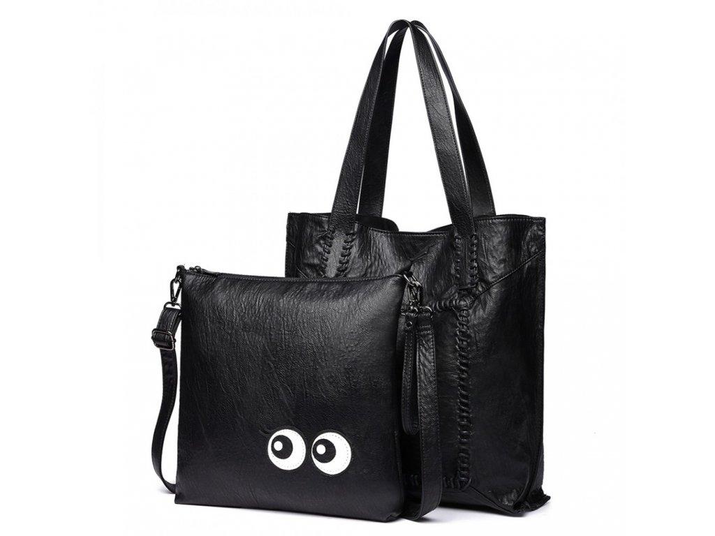 shopper kabelka Miss Lulu 1826 černá (2)
