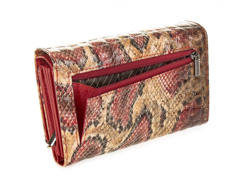 Dámská kožená peněženka 74112 DRK red (1)