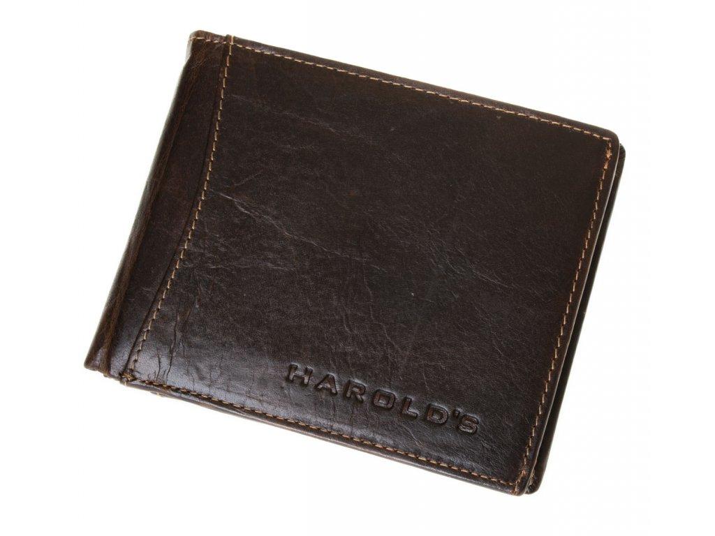 Pánská kožená peněženka hnědá harolds 5544 (3)