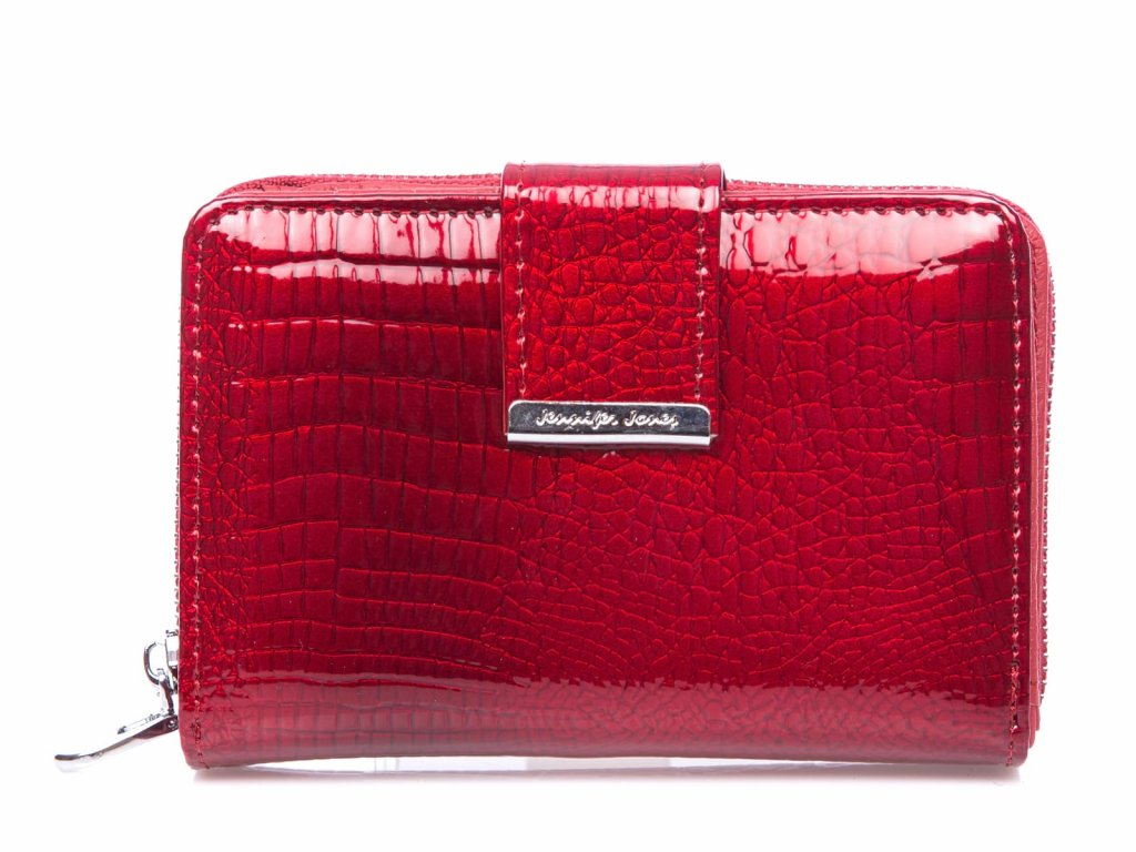 Malá dámská kožená peněženka Jennifer jones červená 5198 2 RD (2)