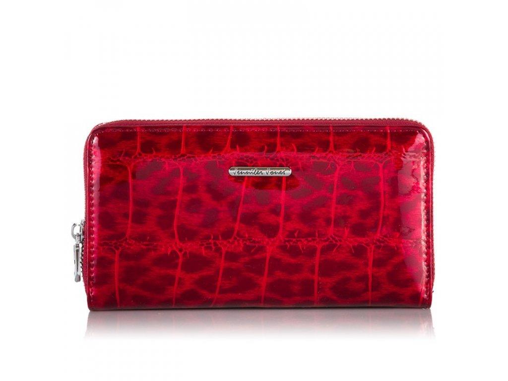 Velká dámská kožená peněženka lakovaná na zip Jennifer JOnes 5247 3 (7)