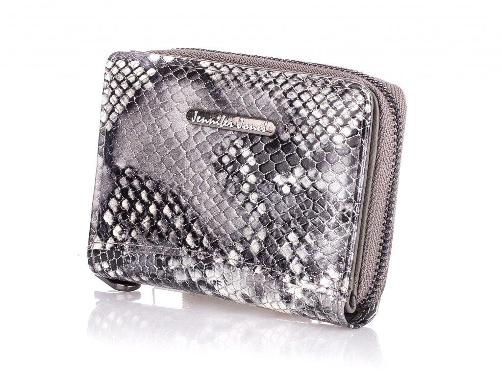 Malá dámská kožená peněženka šedá 5248 5 GY (4)