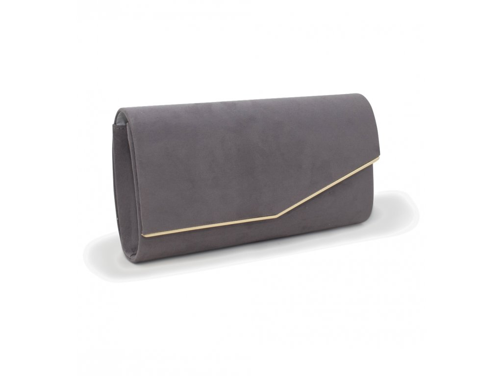 Večerní kabelka psaníčko 18011 šedá (3)