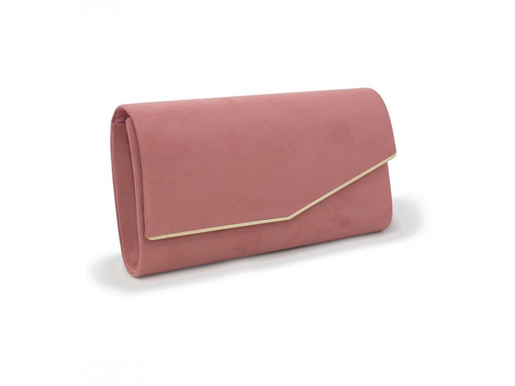 Večerní kabelka psaníčko 18011 růžová (3)