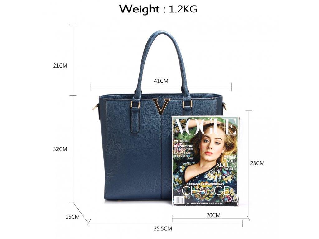 7081f5245e ... Dámská kabelka do ruky a přes rameno modrá Anna Grace AG00420 NAVY (3)