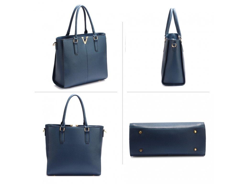 a0eba74951 ... Dámská kabelka do ruky a přes rameno modrá Anna Grace AG00420 NAVY (4)  ...