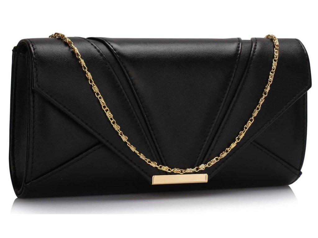 Večerní kabelka psaníčko černé LSE00306 BK (2)