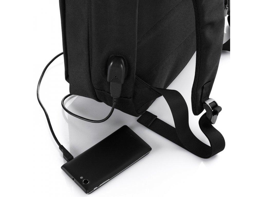 0168966112 ... Batoh na notebook s usb konektorem černý Harolds 4080 (10) ...