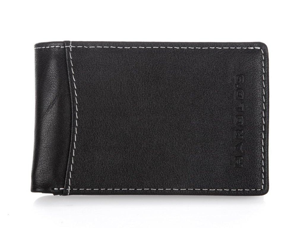 Malá pánská kožená slim peněženka Harolds 5531 černá (2)