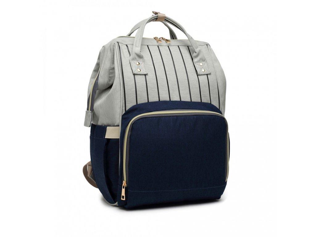 Mateřský přebalovací batoh Kono E6814 BE modrý (3)