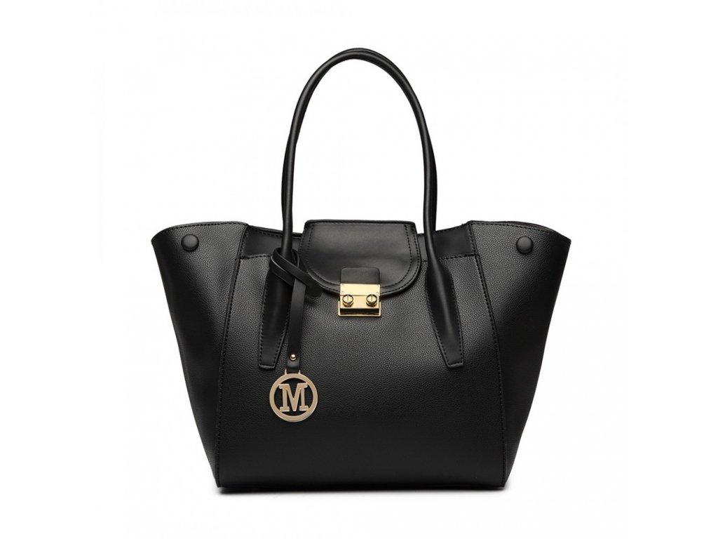 ... Dámská kabelka do ruky a přes rameno Miss Lulu LT6875 černá (2) ... 196cbfd8b37
