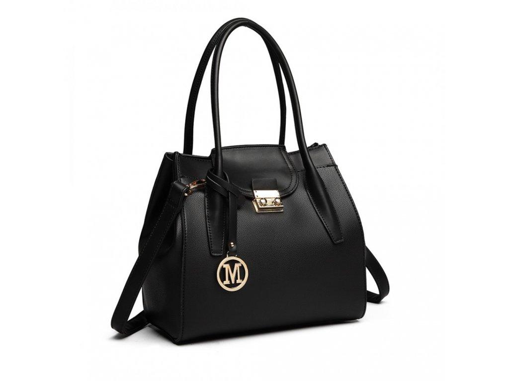 Dámská kabelka do ruky a přes rameno Miss Lulu LT6875 černá (4)