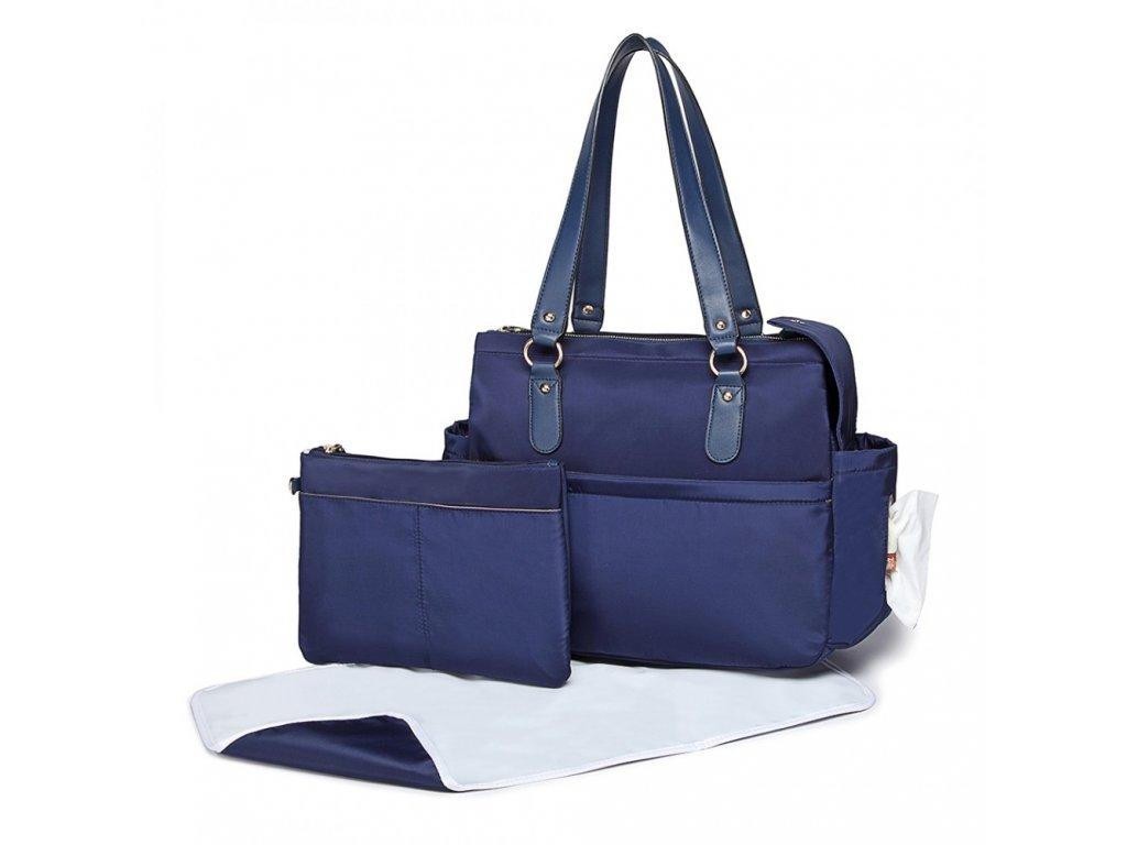 Mateřská přebalovací taška na kočárek Miss Lulu modrá LT6852 (2)