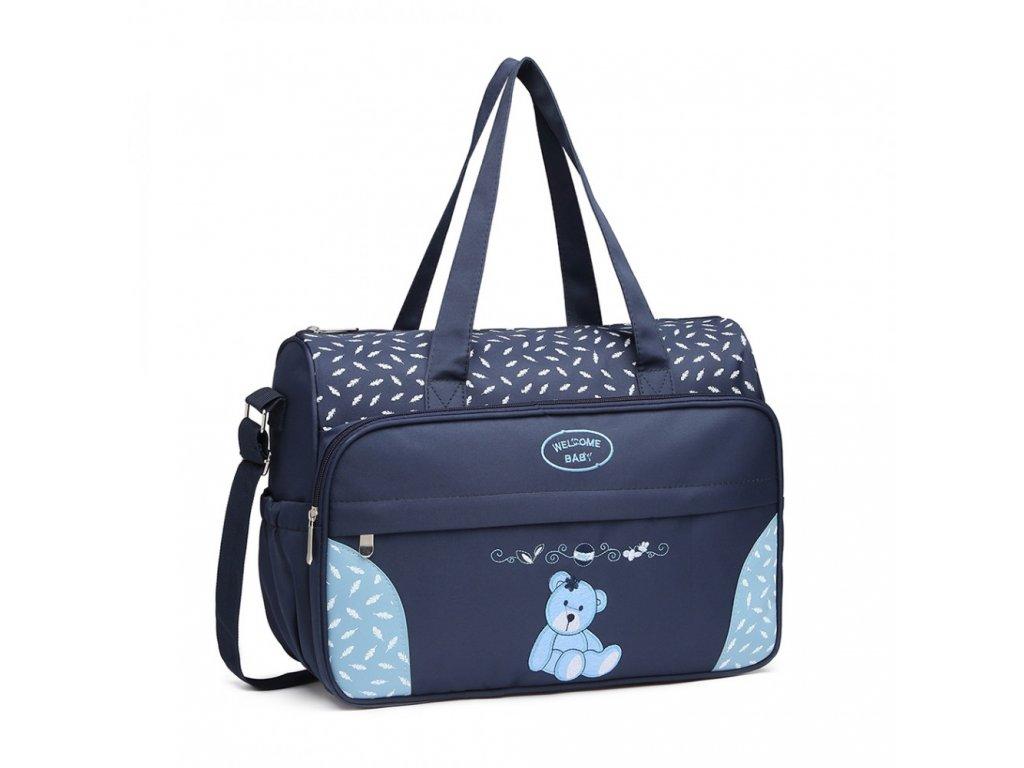 Mateřská přebalovací taška Kono modrá 08190 (4)