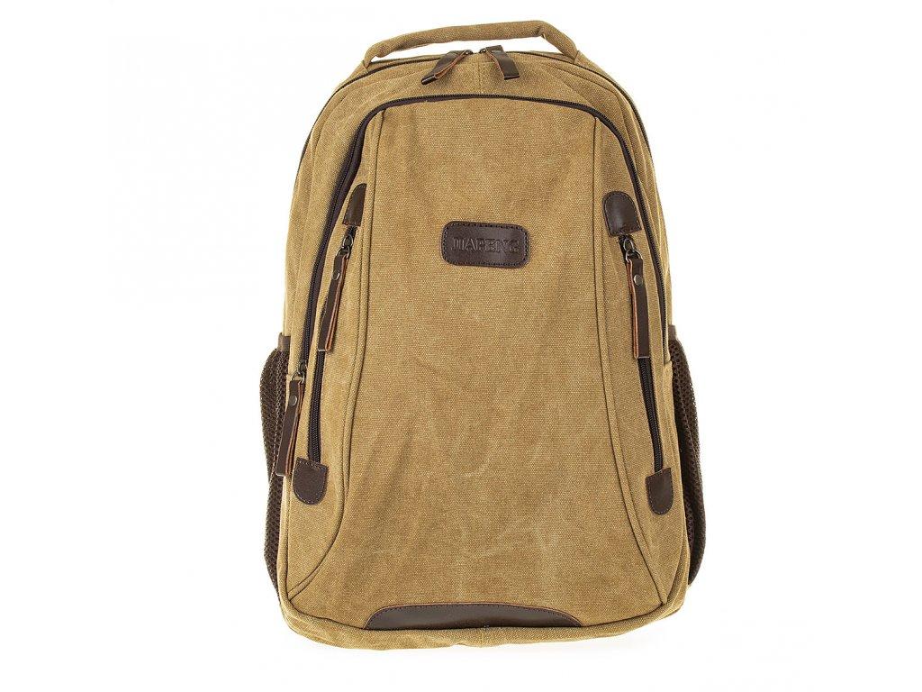 Batoh plátěný velký Gil Bags světle hnědý 3004 18 (2)