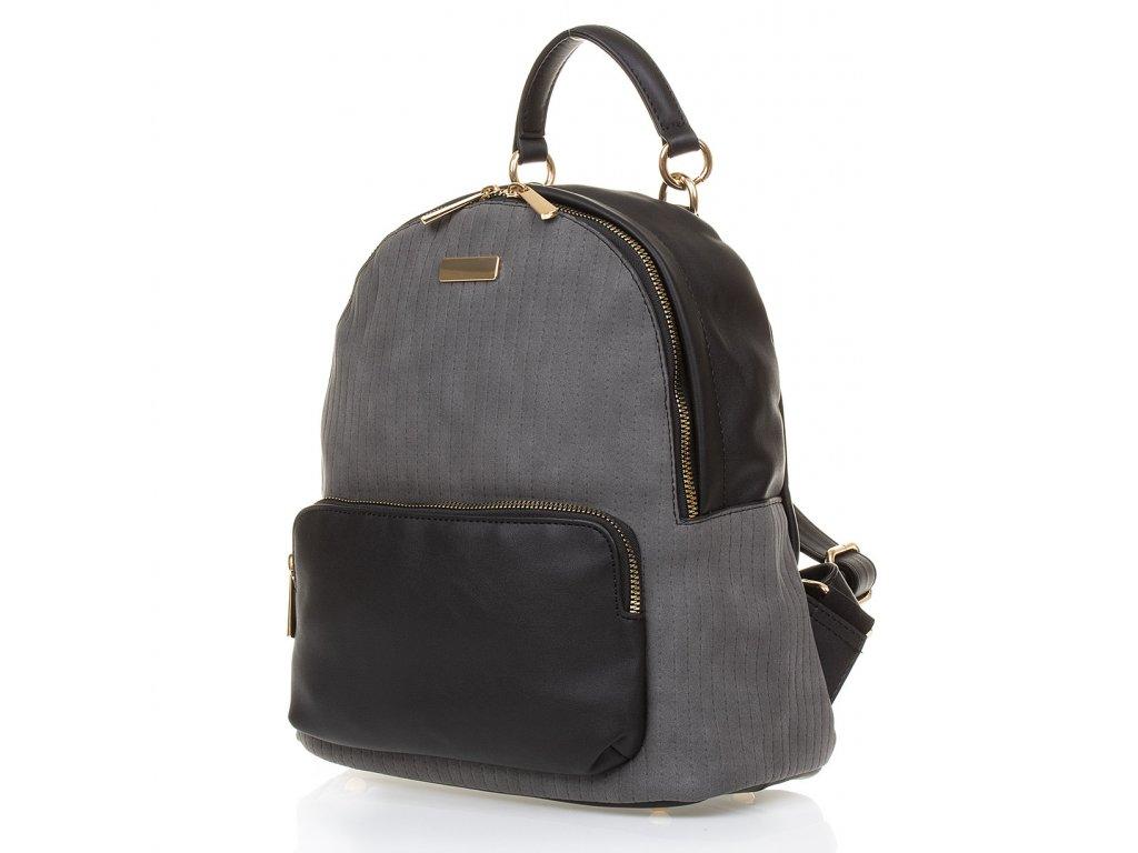 Dámský batůžek Paula Rossi G2560 černý šedý (3)