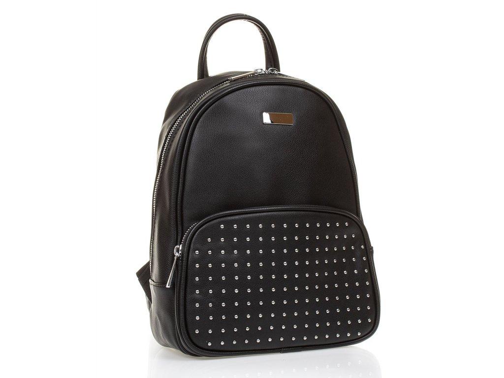 Dámský kožený batůžek Paula Rossi černý G2562 (1)