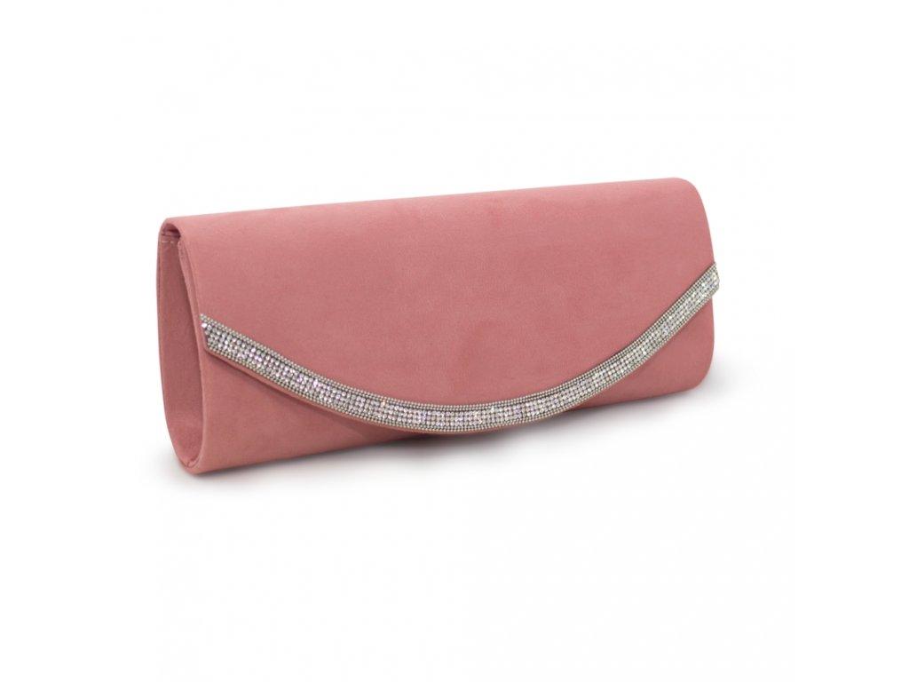 Večerní kabelka psaníčko růžová CA18083 PK (3)