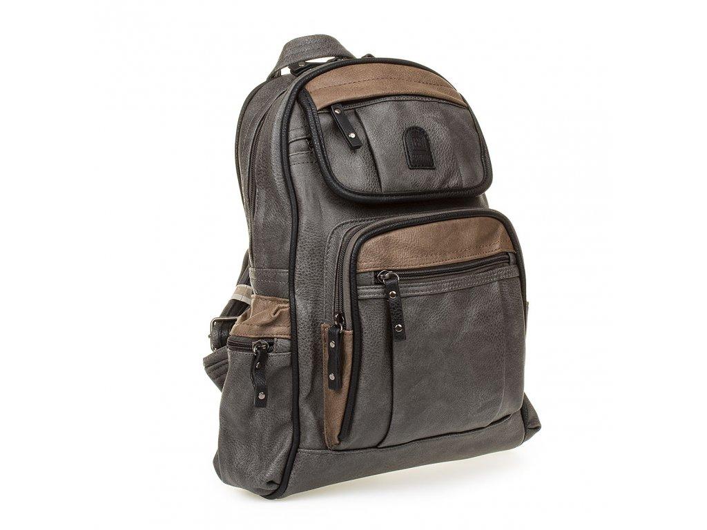 Dámský kožený batoh šedý YGC 536 (3)