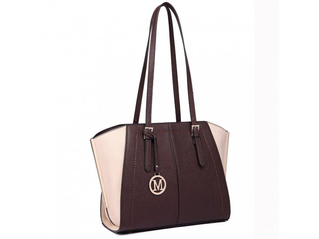 Elegantní kabelka přes rameno hnědá Miss Lulu LT6614 CE (3)