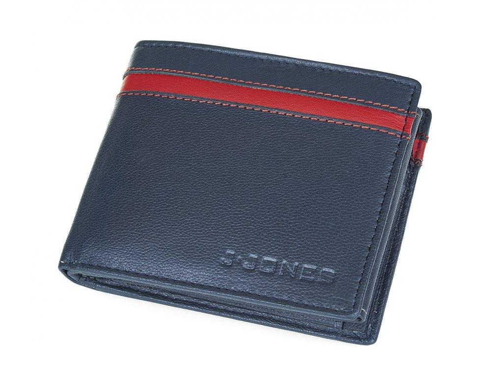 Pánská kožená peněženka modrá Jennifer Jones 5544 BE BOX (2)