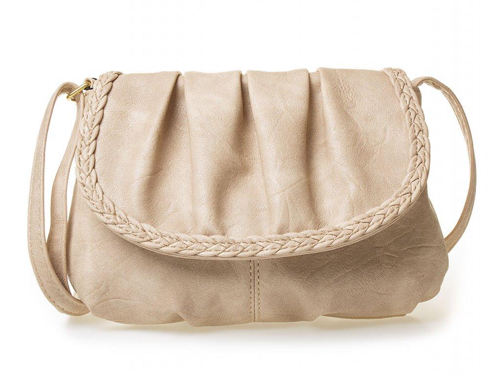 Malá dámská kabelka přes rameno béžová Bag Street 3257 BG (2)