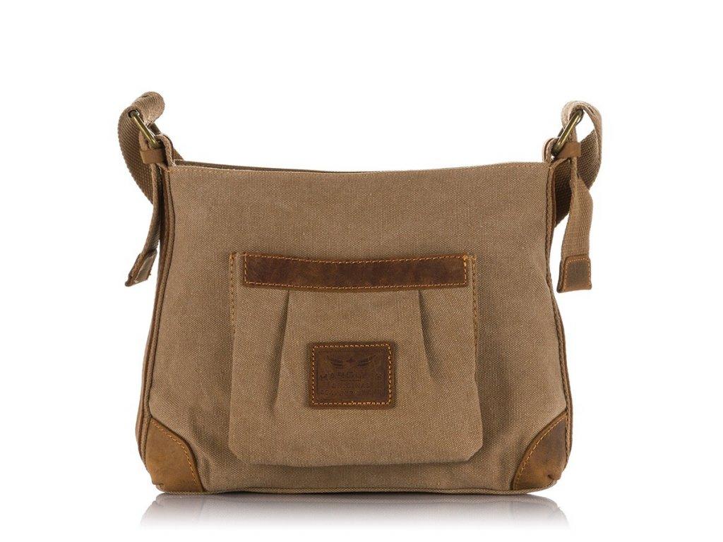 Malá kabelka přes rameno hnědá Canvas Harolds 4543 (2)