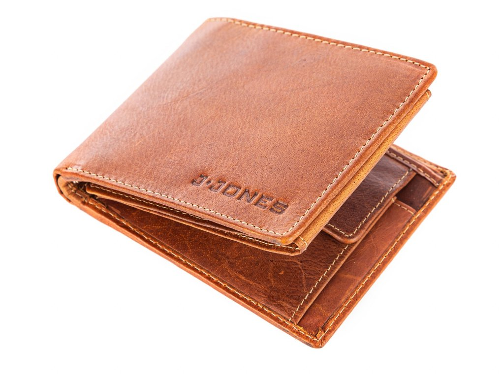 Pánská kožená peněženka hnědá Jennifer Jones 5326 (8)