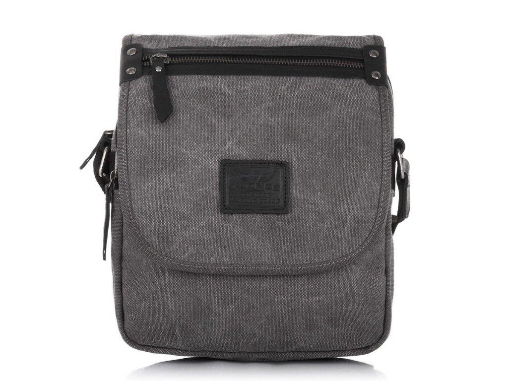 Pánská taška přes rameno Canvas šedá Jennifer Jones 4556 GY (2)