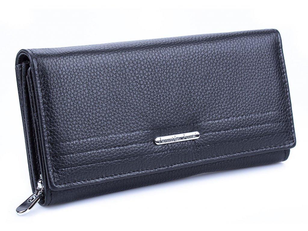 Velká dámská kožená peněženka Jennifer Jones 5374 černá ModexaStyl (2)