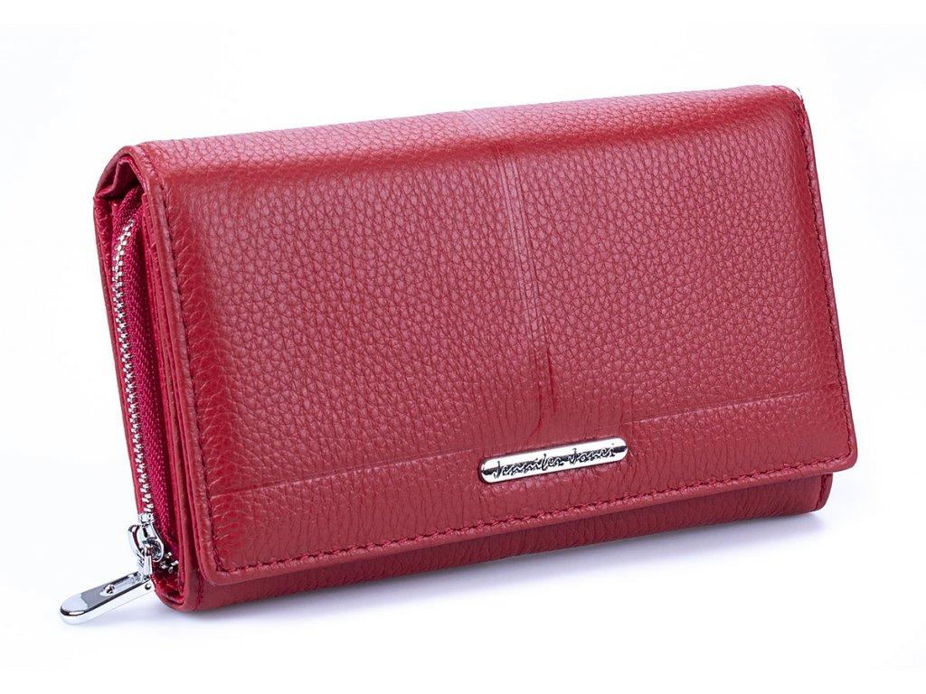 Prostorná dámská kožená peněženka Jennifer Jones 5375 červená ModexaStyl (2)