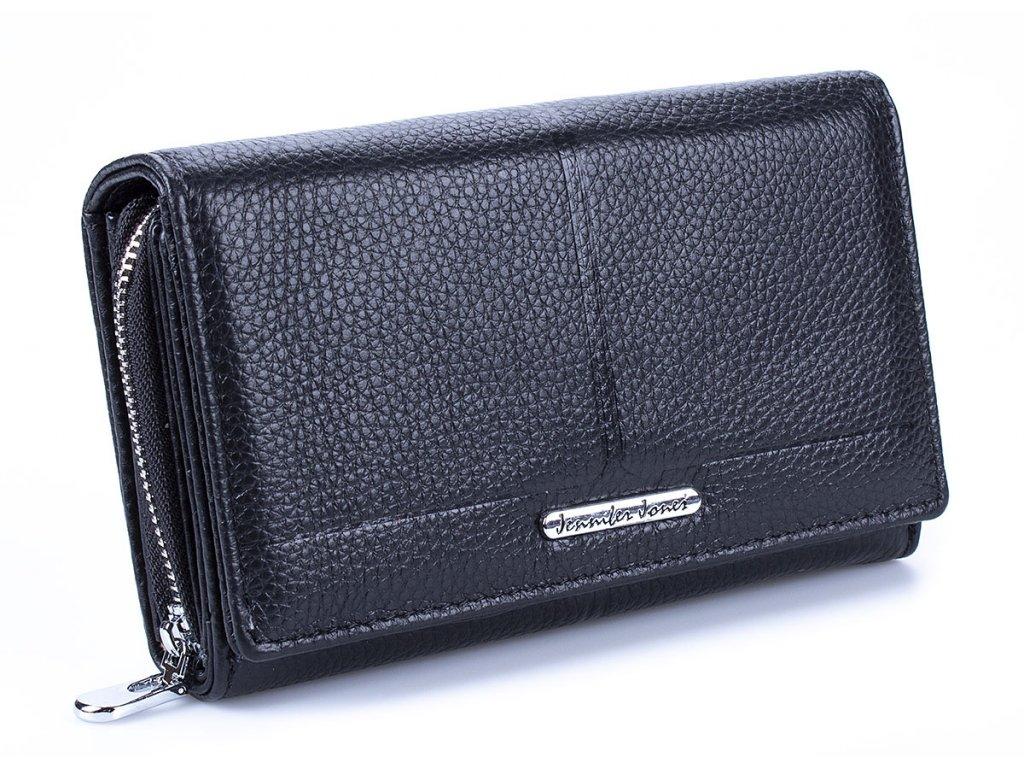 Prostorná dámská kožená peněženka Jennifer Jones 5375 černá ModexaStyl (9)