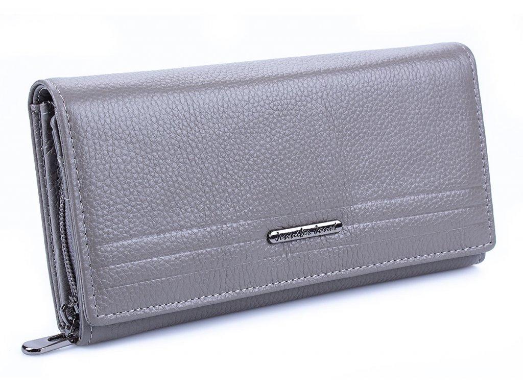 Velká dámská kožená peněženka Jennifer Jones 5374 šedá ModexaStyl (2)