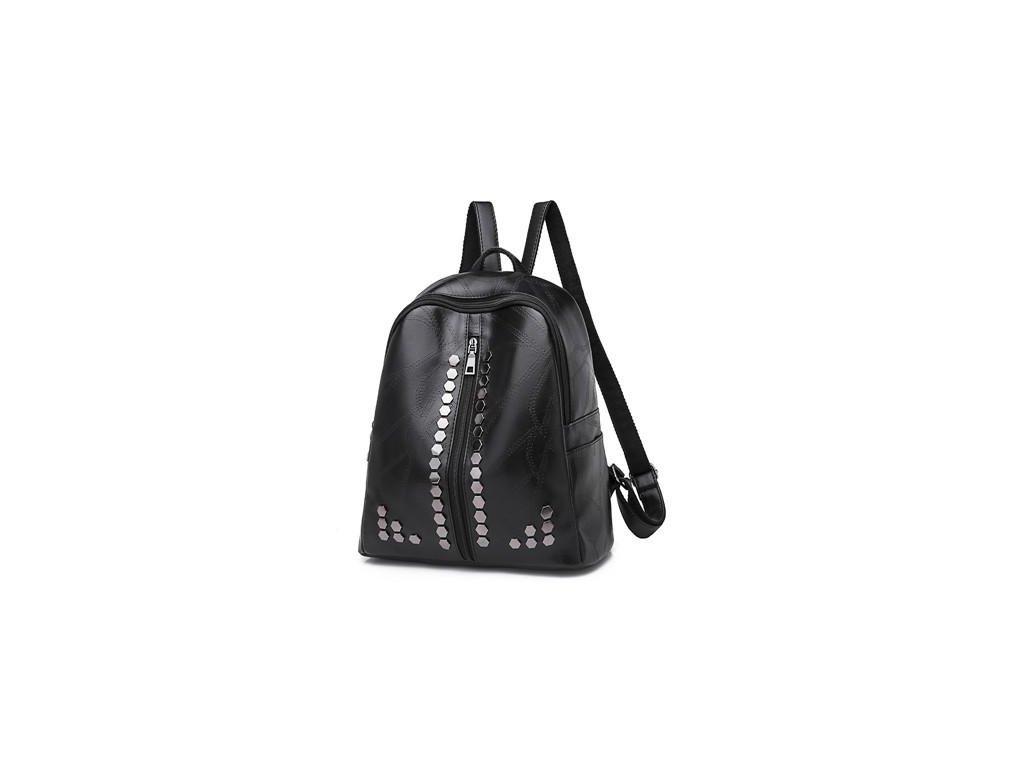 Dámský městský kožený batůžek Gil Bags černý 2043 ModexaStyl (5)