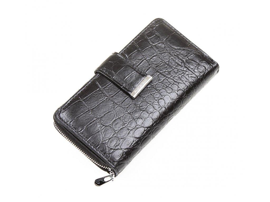 Dámská kožená peněženka černá Jennifer Jones 5280 7 BK ModexaStyl (6)