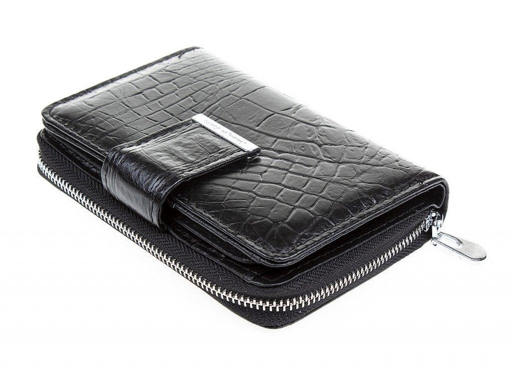 Malá dámská kožená peněženka Jennifer Jones 5198 7 černá ModexaStyl (4)